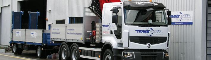 Für Transporte vom Einzeltransport bis zum Fabrik-Umzug steht uns ein Breiter Fuhrpark zur Verfügung.